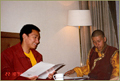 Rinpoche and Aten Rinpoche in Lhasa